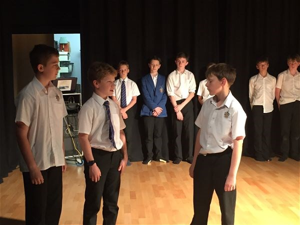 Photo 4 - Year 7 performing for future pupils.