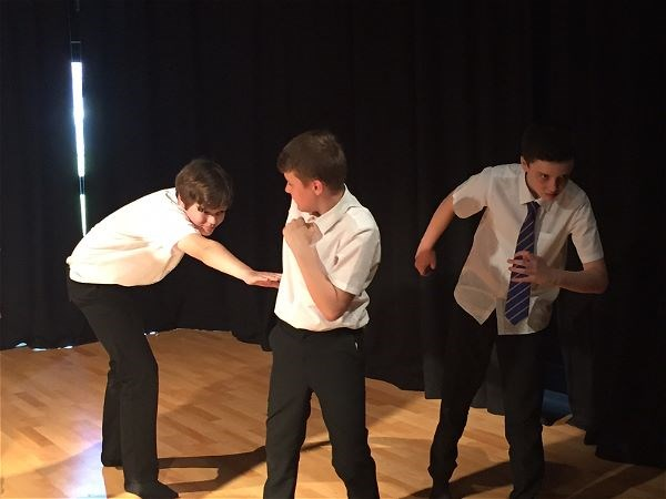 Photo 5 - Year 7 performing for future pupils.