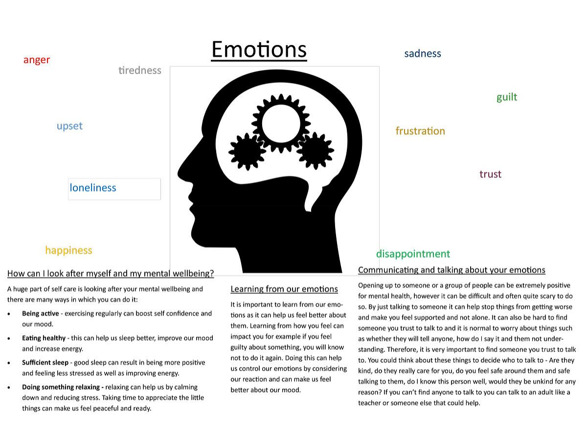 Photo 3 - Year 7 and Year 8 PSHE: Emotions, Mental Health and Self-Care