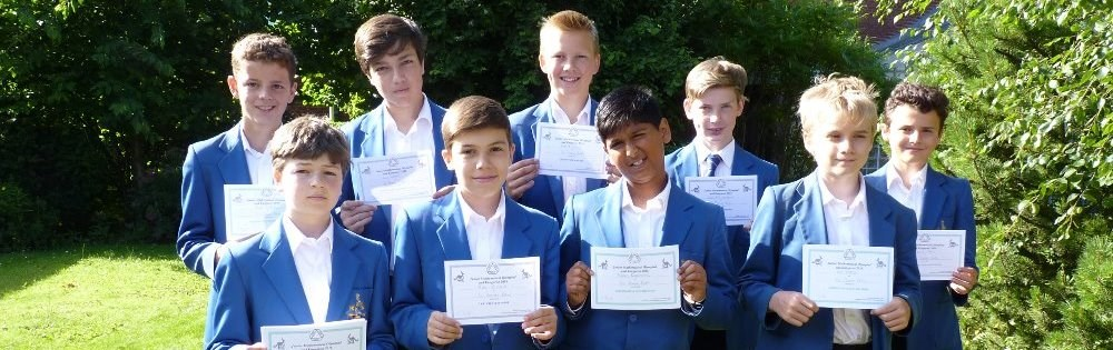 Junior Maths success