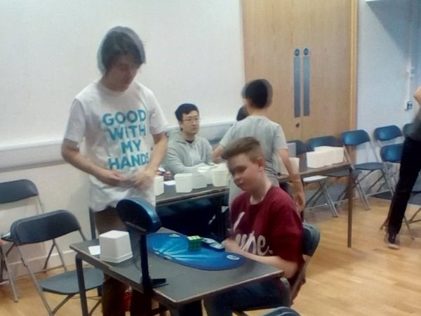 Photo 1 - Robbie Hicks in Open Speed Cubing Competition