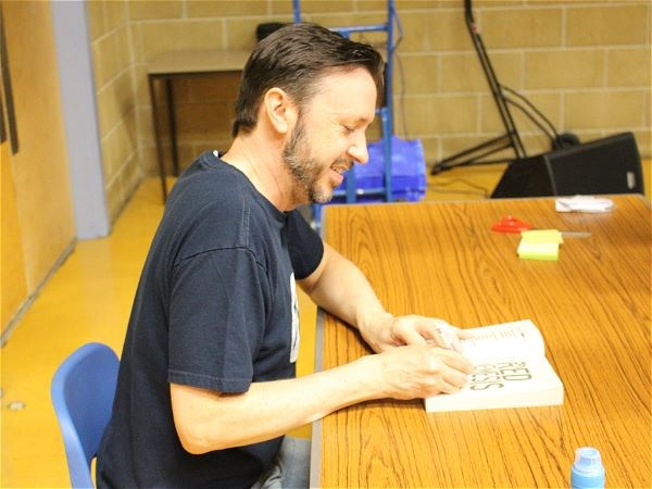Photo 1 - Author Steve Cole Visits STRS
