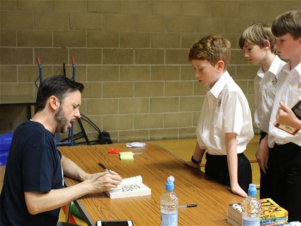 Photo 2 - Author Steve Cole Visits STRS
