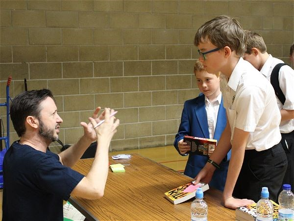 Photo 3 - Author Steve Cole Visits STRS