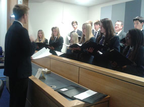 Photo 1 - Chamber Choir sing for the Deputy Lieutenant