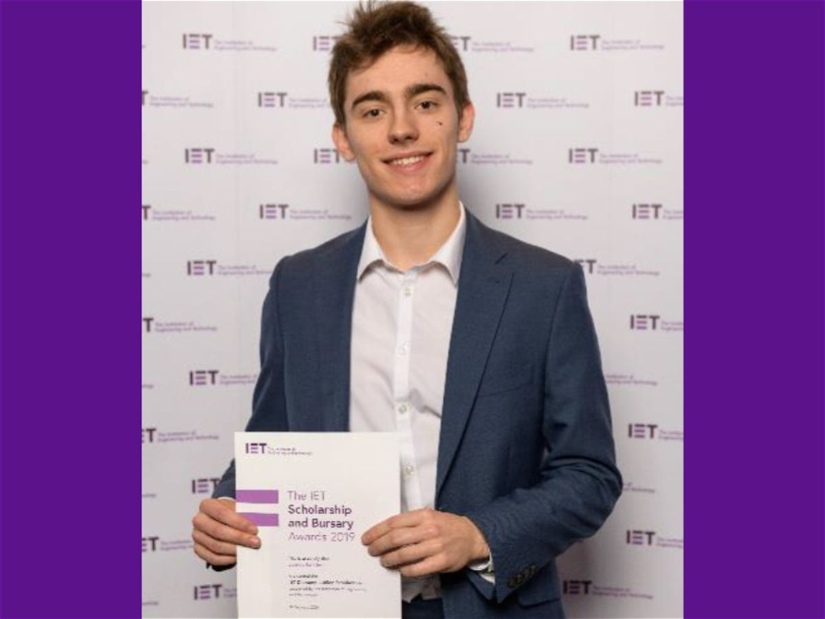 Photo 1 - Former Pupil Awarded Prestigious Engineering Scholarship