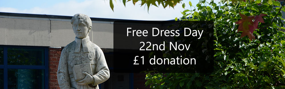 Free Dress Day Friday 22nd