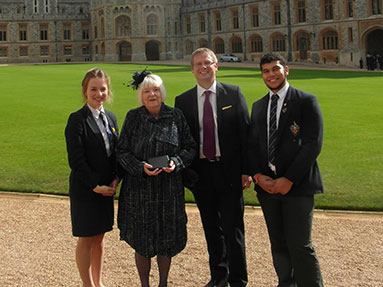 Photo 1 -  Chairman of Governors presented with MBE