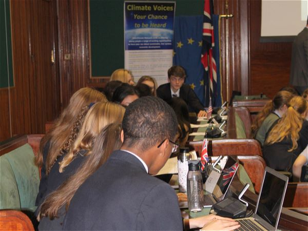 Photo 1 - Six Sixth Form students represented STRS at a Climate Change Conference (PSHE)