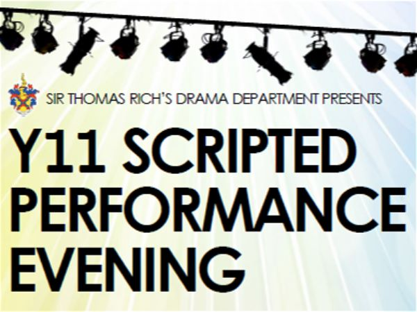 Photo 1 - Year 11 GCSE Drama Performance Evening
